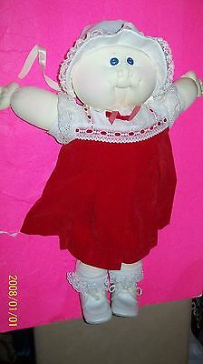 cabbage patch soft sculptured doll bald girl handsigned 1980 vhtf! big head