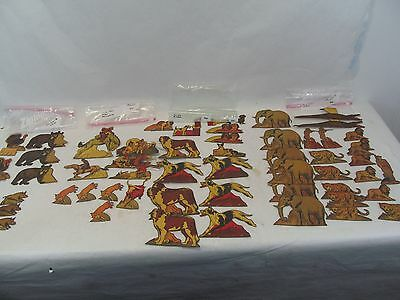 65 Vintage Antique Cereal Box Cut Outs Wild Animals Dogs Coyboy African Animals