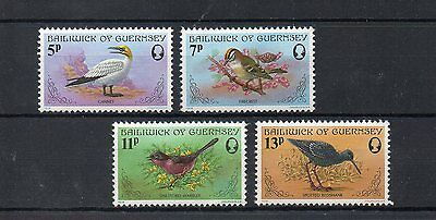 set of 4 mint bird themed stamps from guernsey