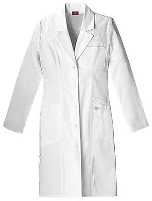 "Dickies 37"" Lab Coat 82401 DWHZ White Free Shipping"