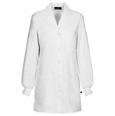 "Cherokee 32"" Fluid Barrier Lab Coat 1362AB WHTD White Free Shipping"
