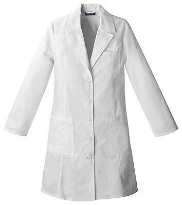 "Cherokee 37"" Lab Coat 2411 WHTD White Free Shipping"