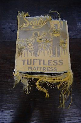 Antique/vintage Sealy mattress tag--tuftless ( without tufts ) cotton picking