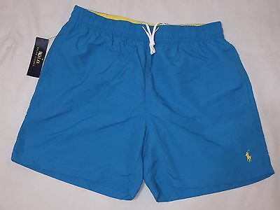 New With Tags Polo Ralph Lauren  Men's Swim Trunks -Blue - Medium
