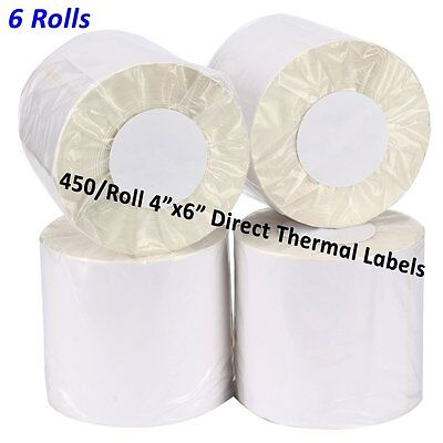 6 Rolls 450/Roll 4x6 Direct Thermal Labels - UPS eBay Paypal FedEx Free Shipping