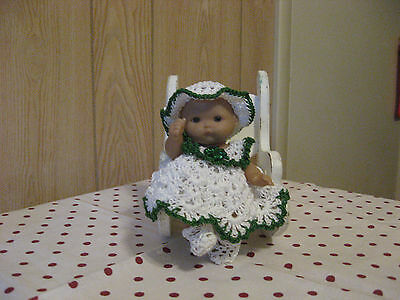 "Shamrock Dress Set For 5"" To 6"" Ooak/reborn Berenguer Doll"