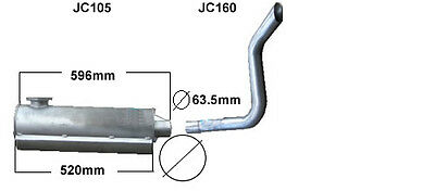 Jcb814 Exhaust Silencer And Tail Pipe  (New)