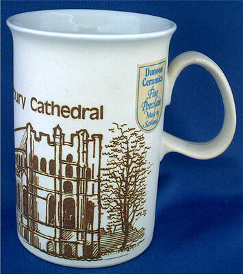 Canterbury Cathedral Pictured On This Dunoon Porcelain Mug. Original Sticker