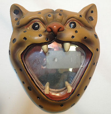 Vintage Cat Face Hanging Mirror Picture