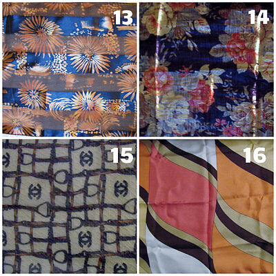 4 Womens Assorted fashion wrap head neck scarves silk polyester cotton cancer pt