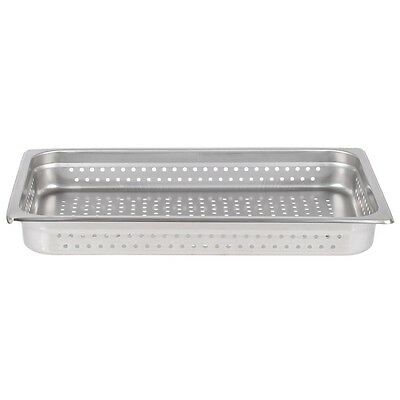 """Restaurant Equipment NEW STAINLESS STEEL FOOD PAN FULL Size 2"""" deep Perforated"""
