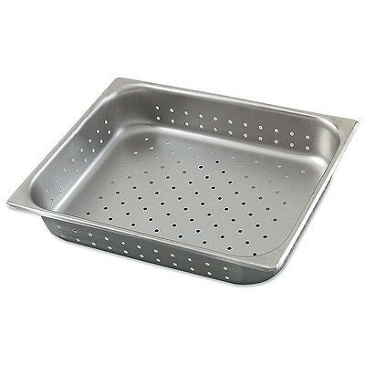 """Restaurant Equipment NEW STAINLESS STEEL FOOD PAN 1/2 Size 4"""" deep Perforated"""