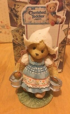 "Rare & Retired Cherished Teddies ""Katrien"" - Tulips Blossom With Friendship."