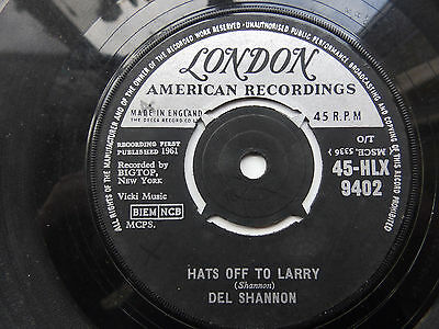 del shannon hats off to larry uk london