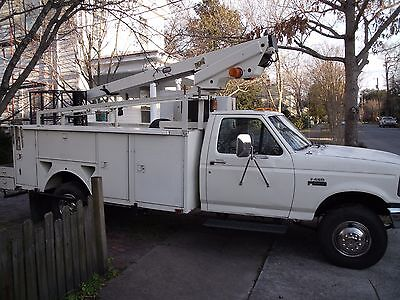 1996 Ford F450 Super Duty Bucket Truck with 2 Buckets