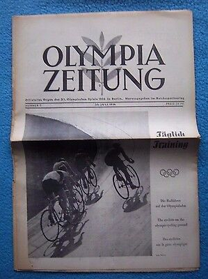 Orig.PRG / Newsletter  Olympic Games BERLIN 1936 - 23.07. // Preview  !!  RARE