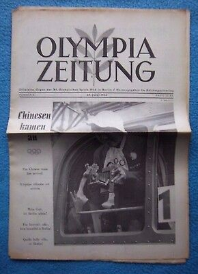 Orig.PRG / Newsletter  Olympic Games BERLIN 1936 - 24.07. // Preview  !!  RARE