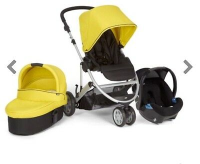 Mamas and papas zoom travel system Pushchair Pram Baby Carrycot Lime Black