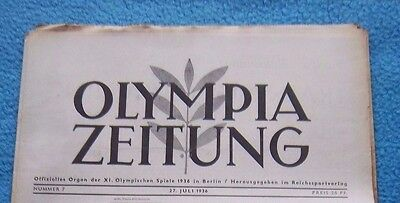 Orig.PRG / Newsletter  Olympic Games BERLIN 1936 - 27.07. // Preview  !!  RARE