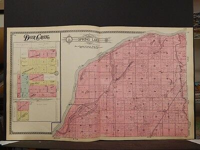 Illinois, Tazewell County Map, 1910, Spring Lake Township, Double Page, P5#01