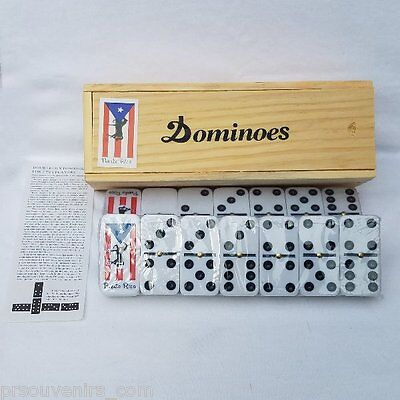 Puerto Rico Flag & Horse Double Six Dominos - Dominoes - ( Boricua Rican )