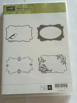 Stampin' Up *FOUR FRAMES* 4 pc Clear Mount Rubber Stamp Set.
