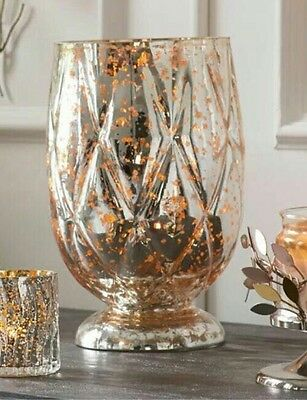 Partylite Silver And Gold Shimmer Hurricane.....BNIB LOOK!!!