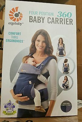 Ergobaby Four Position 360 Baby Carrier Ergo Dusty Blue BRAND NEW AUTHENTIC