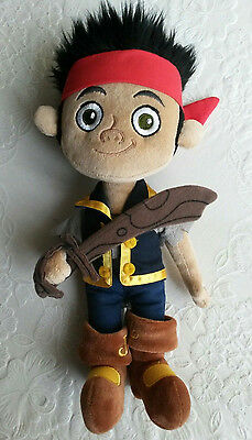 "Disney Store 12"" Jake Pirate Soft Toy"