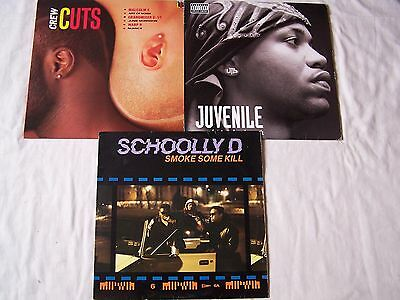 Hip Hop  X 3 - Juvenile - Reality Check With Insert / Schoolly D / Crew Cuts