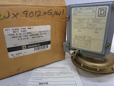 New Square D 9012-Gaw1 Pressure Switch