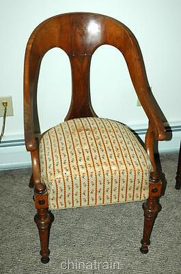 Antique 19th Century Danish Arched Back Upholstered Chair