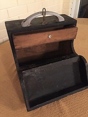 vintage wooden toolbox shed ware
