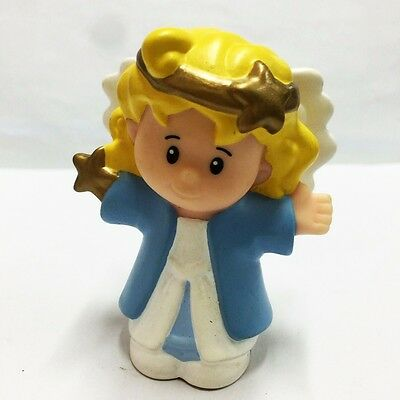 Rare Fisher Price Little People CHRISTMAS NATIVITY ANGEL Figure Kid Toy