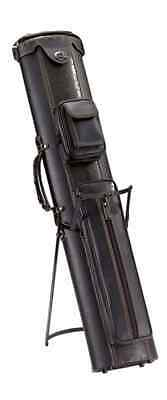 New 3x5 Pool Cue Case with Stand Black/Brown