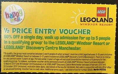 Legoland 1/2 price entry voucher for family of 5 Ts&Cs apply Discount Save 50%