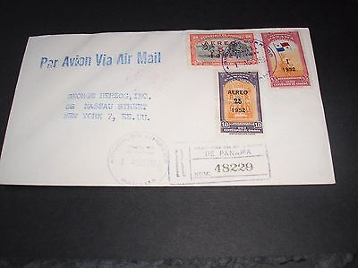 Panama 1952 airmail cover superb franking