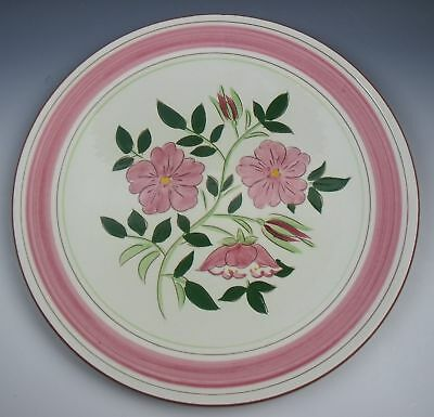 Stangl Pottery WILD ROSE Chop Plate/Roud Platter EXCELLENT