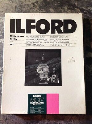 ILFORD Photographic Paper MGIV Multigrade IV DC 70+  De Luxe 8x10 Medium Weight