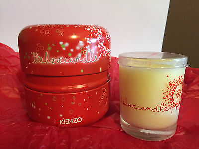 Flower by Kenzo Bougie PARFUMEE Solid Perfumed CANDLE Metal Box RARE