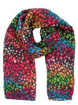 New Women lightweight woven fabric Multi color Print Scarf wrap shawl