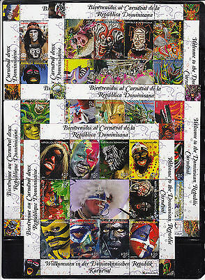 Dominican Republic 2012 Carnival Masks  Sc 1517-21 5 sheets  Mint Never Hinged