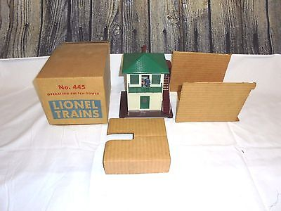 Lionel Postwar #445 Operating Switch Tower With Original Box