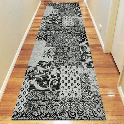 NEW Saray Rugs Gaspard Modern Runner Rug in Black, Brown, Red
