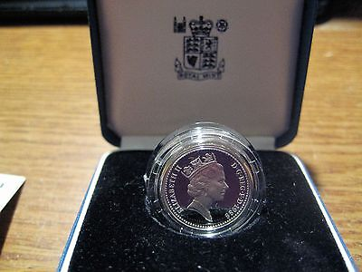 1988 One Pound Coin Silver Proof United Kingdom Take a Look