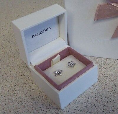 GENUINE AUTHENTIC PANDORA DAZZLING DAISIES daisy EARRINGS 290570CZ NEW IN BOX