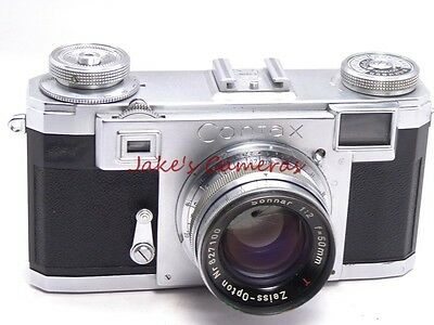 Zeiss Contax Iia Bd Rangefinder Camera  50/2 Cz  Opton Red T Sonnar  Lens