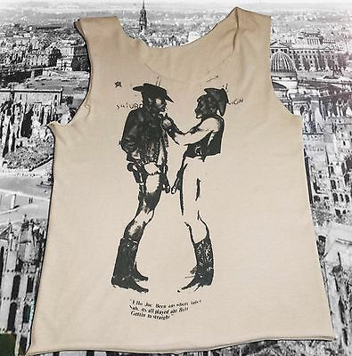 Vintage 1970s Seditionaries Cowboys T Shirt Vivienne Westwood Punk SEX Pistols