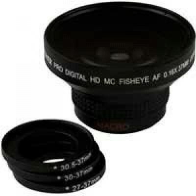 Bower VLB1637B High-Speed Super Fisheye Wide-Angle Lens with Macro 0.16x 37mm