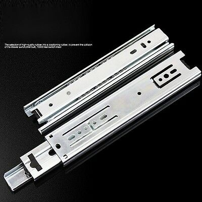 Awesome New 1pair 6 10 Inch 3 Drawer Slides Steel Ball Bearings Furniture Hardware  Guide